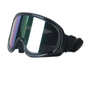 Pocketbike-Test Schutzbrille Schwarz